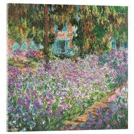 Cuadro de metacrilato  The Artist's Garden at Giverny - Claude Monet