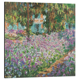 Aluminio-Dibond  The Artist's Garden at Giverny - Claude Monet