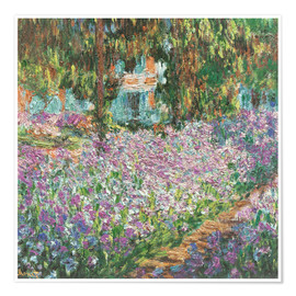 Póster  The Artist's Garden at Giverny - Claude Monet
