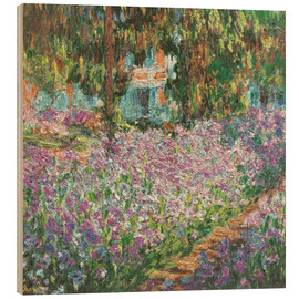 Madera  The Artist's Garden at Giverny - Claude Monet