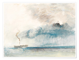 Póster Steamboat in a Storm