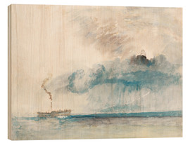 Cuadro de madera  Steamboat in a Storm - Joseph Mallord William Turner