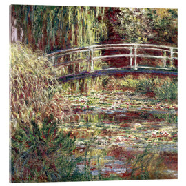 Cuadro de metacrilato  Waterlily Pond: Pink Harmony - Claude Monet
