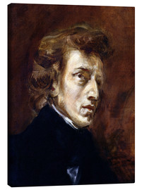 Lienzo  Frederic Chopin - Eugene Delacroix