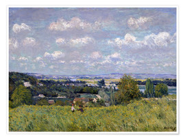 Póster  The Valley of the Seine at Saint-Cloud - Alfred Sisley