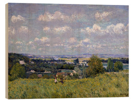 Cuadro de madera  The Valley of the Seine at Saint-Cloud - Alfred Sisley