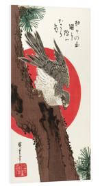 Cuadro de PVC  Falcon, Pine, and New Year Sunrise - Utagawa Hiroshige