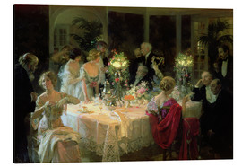Cuadro de aluminio  The End of Dinner - Jules Alexandre Gruen