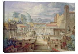 Lienzo  A Scene in Ancient Rome - Joseph Michael Gandy