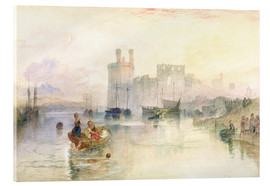 Cuadro de metacrilato  View of Carnarvon Castle - Joseph Mallord William Turner