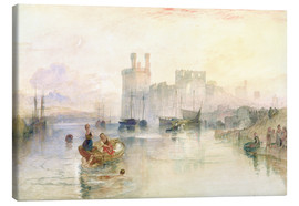 Lienzo  View of Carnarvon Castle - Joseph Mallord William Turner