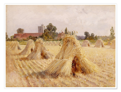 Póster Corn Stooks by Bray Church