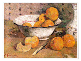 Póster  Still life with Oranges - Paul Gauguin