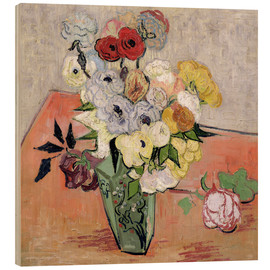 Madera  Roses and Anemones - Vincent van Gogh