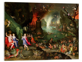 Cuadro de metacrilato  Orpheus with a Harp Playing to Pluto and Persephone in the Underworld - Jan Brueghel d.Ä.