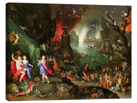 Lienzo  Orpheus with a Harp Playing to Pluto and Persephone in the Underworld - Jan Brueghel d.Ä.