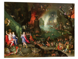 Cuadro de PVC  Orpheus with a Harp Playing to Pluto and Persephone in the Underworld - Jan Brueghel d.Ä.