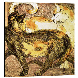 Cuadro de aluminio  Two cats - Franz Marc