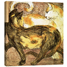 Lienzo  Two cats - Franz Marc