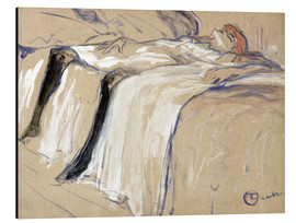 Cuadro de aluminio  Woman lying on her Back - Lassitude - Henri de Toulouse-Lautrec