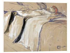 Cuadro de PVC  Woman lying on her Back - Lassitude - Henri de Toulouse-Lautrec