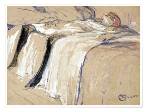 Póster Woman lying on her Back - Lassitude