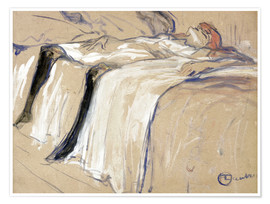 Póster  Woman lying on her Back - Lassitude - Henri de Toulouse-Lautrec