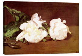 Lienzo  Branch of White Peonies and Secateurs - Edouard Manet