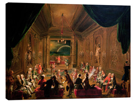 Lienzo  Initiation ceremony in a Viennese Masonic Lodge - Ignaz Unterberger