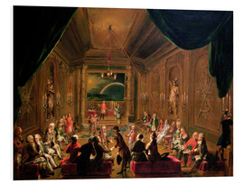 Cuadro de PVC  Initiation ceremony in a Viennese Masonic Lodge - Ignaz Unterberger
