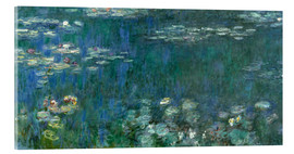 Cuadro de metacrilato  Water Lilies, Green Reflections 1 - Claude Monet