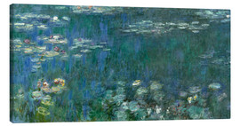 Lienzo  Water Lilies, Green Reflections 1 - Claude Monet
