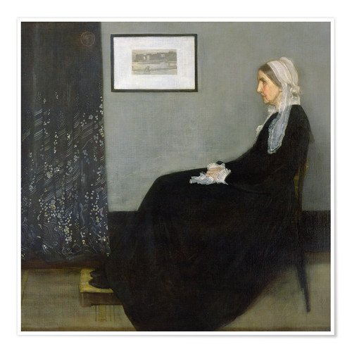 Póster Arrangement in Grey and Black: The Artist's Mother