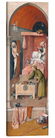 Lienzo  Death and the Miser - Hieronymus Bosch