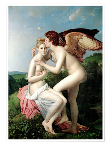 Póster Psyche Receiving the First Kiss of Cupid