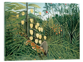 Cuadro de metacrilato  Tiger attacks a buffalo - Henri Rousseau