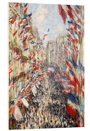 Cuadro de PVC  Rue Montorgueil, celebrations June 30 - Claude Monet