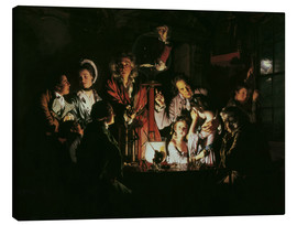 Lienzo  An Experiment on a Bird in the Air Pump - Joseph Wright of Derby