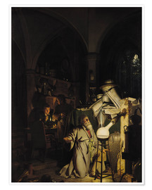 Póster  The Alchymist - Joseph Wright of Derby
