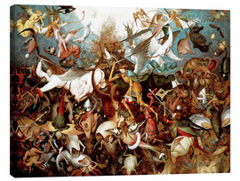 Lienzo  The Fall of the Rebel Angels - Pieter Brueghel d.Ä.