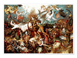 Póster  The Fall of the Rebel Angels - Pieter Brueghel d.Ä.