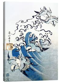 Lienzo  Waves and Birds - Katsushika Hokusai