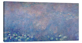 Lienzo  Waterlilies: Two Weeping Willows (detail)  - Claude Monet