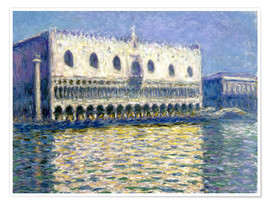 Póster  The Ducal Palace - Claude Monet