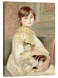 Lienzo  Julie Manet with Cat - Pierre-Auguste Renoir