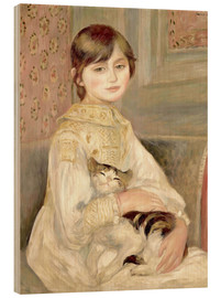 Madera  Julie Manet with Cat - Pierre-Auguste Renoir
