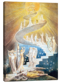 Lienzo  La escalera de Jacob - William Blake