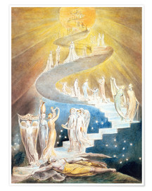 Póster  La escalera de Jacob - William Blake