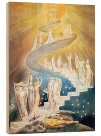 Cuadro de madera  La escalera de Jacob - William Blake