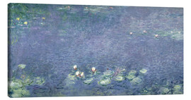 Lienzo  Waterlilies: Morning - Claude Monet